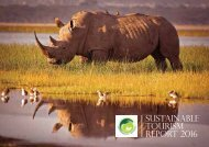 Sustainable tourism report 2016