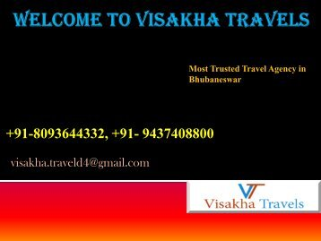 Visakha Travels The Best  Tour Opearator in Odisha