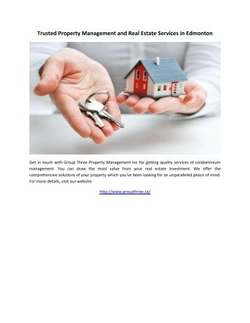 Trusted Property Management and Real Estate Services in Edmonton