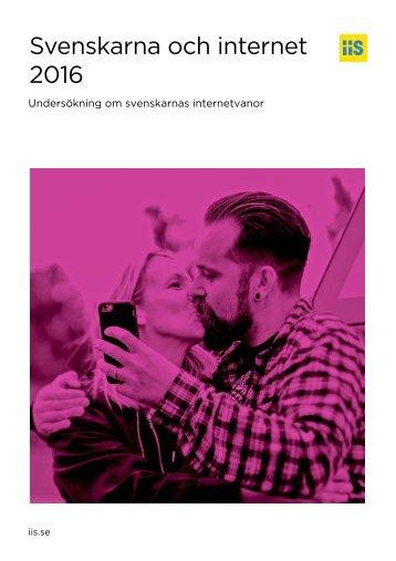 Svenskarna och internet 2016