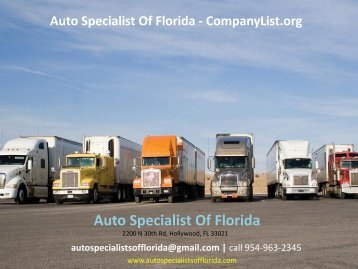 Auto Specialist Of Florida - CompanyList.org