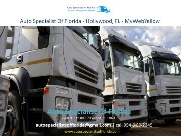 Auto Specialist Of Florida - Hollywood, FL - MyWebYellow