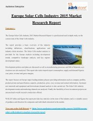 Europe_Solar_Cells_Industry_2015_Market_Research_Report