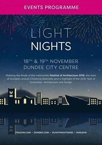 EVENTS PROGRAMME 18 & 19 NOVEMBER DUNDEE CITY CENTRE