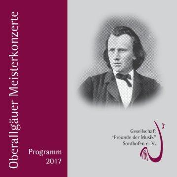 Oberallgäuer Meisterkonzerte Programm 2017