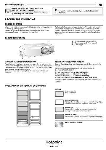 KitchenAid T 16 A1 D/HA.2 - Fridge/freezer combination - T 16 A1 D/HA.2 - Fridge/freezer combination NL (F095832) Setup and user guide