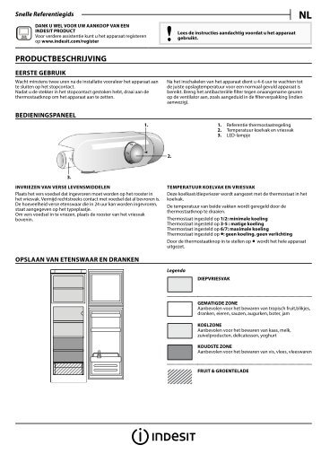 KitchenAid T 16 A1 D S/I - Fridge/freezer combination - T 16 A1 D S/I - Fridge/freezer combination NL (F093232) Setup and user guide