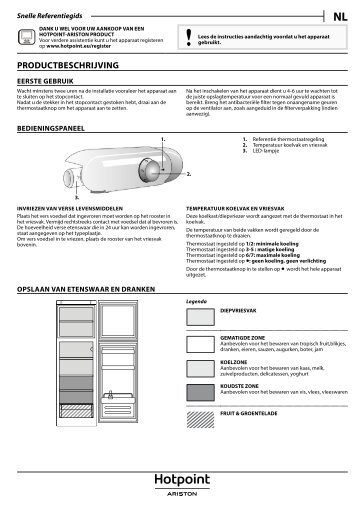 KitchenAid T 16 A2 D S/HA - Fridge/freezer combination - T 16 A2 D S/HA - Fridge/freezer combination NL (F093246) Setup and user guide
