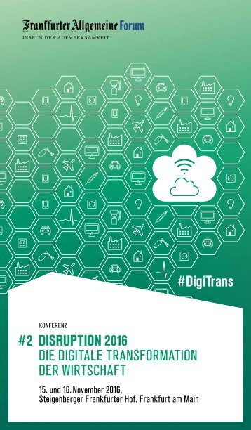 #DigiTrans #2 DISRUPTION 2016 DIE DIGITALE TRANSFORMATION DER WIRTSCHAFT