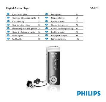 Philips Baladeur audio à mémoire flash - Guide de mise en route - POR