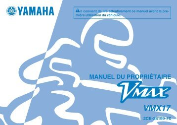 Yamaha VMAX - 2015 - Manuale d'Istruzioni Français