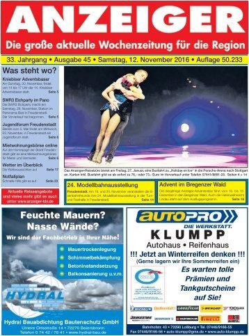 Anzeiger Ausgabe 45/16