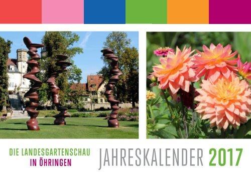 Einblick: Kalender zur Landesgartenschau Öhringen 2016
