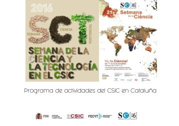 Programa de actividades del CSIC en Cataluña
