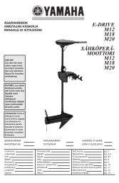 Yamaha M20 - 2013 - Manuale d'Istruzioni Svenska