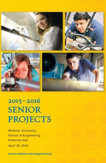 2015-2016 Engineering Senior Projects