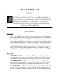 Del Mar Bottom Line