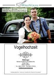 Waldvogels Weinkarte