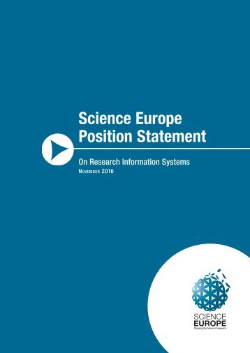 Science Europe Position Statement