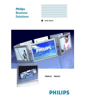 Philips Moniteur plasma - Mode d'emploi - ITA