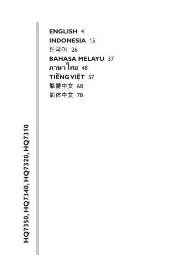 Philips Rasoir électrique - Mode d'emploi - THA