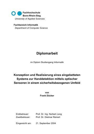 Diplomarbeit - Fachbereich Informatik