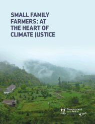 SMALL FAMILY FARMERS  AT THE HEART OF CLIMATE JUSTICE