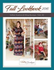 Keffeler Kreations | Hilltop Boutique 2016 Fall Lookbook