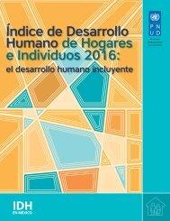 ÍNDICE DE DESARROLLO HUMANO DE HOGARES E INDIVIDUOS 2016: EL DESARROLLO HUMANO INCLUYENTE