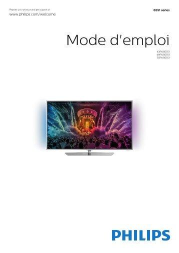 Philips 6000 series Téléviseur ultra-plat 4K avec Android TV™ - Mode d'emploi - FRA