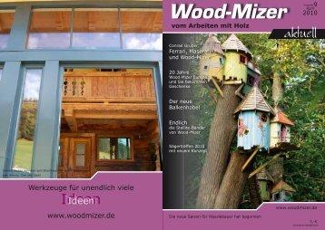 vom Arbeiten mit Holz