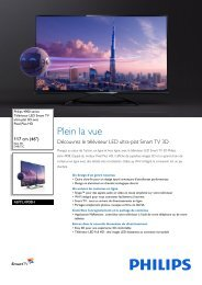 Philips 4900 series Téléviseur LED Smart TV ultra-plat 3D - Fiche Produit - FRA