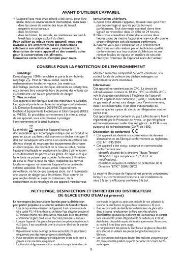 KitchenAid GC2010 HNKBS - Side-by-Side - GC2010 HNKBS - Side-by-Side FR (859512515000) Istruzioni per l'Uso