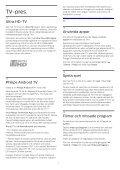 Philips 6000 series Téléviseur ultra-plat 4K avec Android TV™ - Mode d'emploi - SWE - Page 4