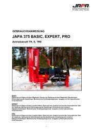 JAPA 375 BASIC, EXPERT, PRO