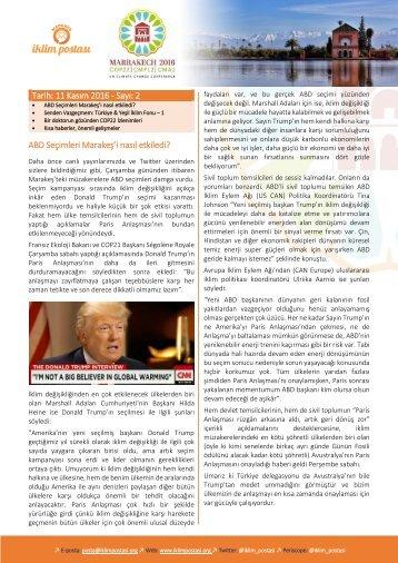 Tarih 11 Kasım 2016 - Sayı 2 ABD Seçimleri Marakeş'i nasıl etkiledi?