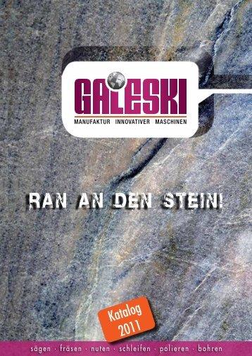 sägen · fräsen · nuten · schleifen · polieren · bohren - GALESKI