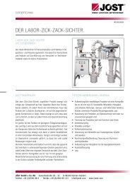 DER LABOR-ZICK-ZACK-SICHTER. - JÖST GmbH + Co.KG