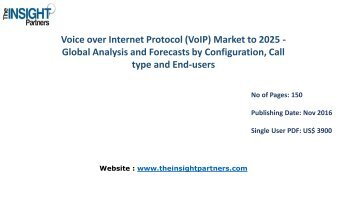 Voice over Internet Protocol (VoIP) Market to 2025 Forecast & Future Industry Trends |The Insight Partners