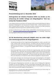 Pressemitteilung von PMnd zur Antwort auf die Große Anfrage der Rako.