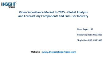 Video Surveillance Market Share, Size, Growth & Forecast 2025 |The Insight Partners