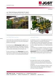AltreifenAufbereitung. - JÖST GmbH + Co.KG