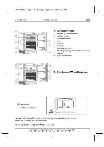 KitchenAid URI 1440/A - Refrigerator - URI 1440/A - Refrigerator FI (855066801000) Scheda programmi