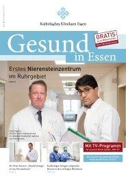 Patientenzeitschrift Katholisches Klinikum Essen | Ausgabe 6