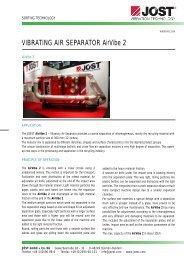 VIBRATING AIR SEPARATOR AirVibe 2 - JÖST GmbH + Co.KG