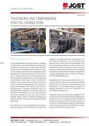 Trocknung und TemPerieren von Pvc-granulaTen - JÖST GmbH + ...
