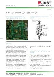 circulating air cone separator - JÖST GmbH + Co.KG
