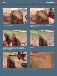 20 Ein Adlerkopf - Holzwerken