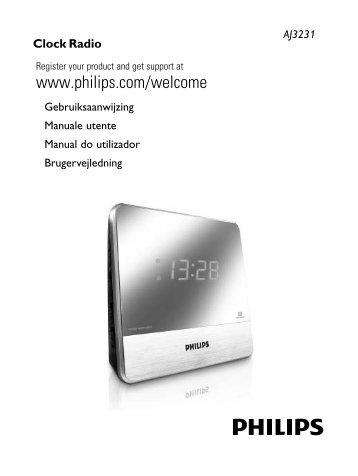 Philips Radio-réveil - Mode d'emploi - DAN