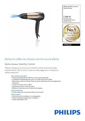 Philips SalonDry Control Sèche-cheveux - Fiche Produit - FRA